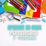 Plan semanal Aprende en Casa Semana 37   7 al 11 de junio